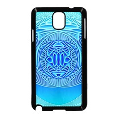 Swirling Dreams, Aqua Samsung Galaxy Note 3 Neo Hardshell Case (Black)