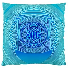 Swirling Dreams, Aqua Standard Flano Cushion Cases (Two Sides)