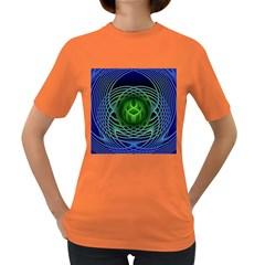 Swirling Dreams, Blue Green Women s Dark T-Shirt