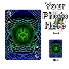 Swirling Dreams, Blue Green Playing Cards 54 Designs