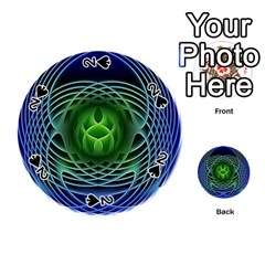 Swirling Dreams, Blue Green Playing Cards 54 (Round)