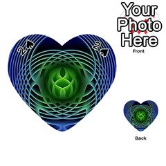 Swirling Dreams, Blue Green Playing Cards 54 (heart)