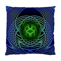 Swirling Dreams, Blue Green Standard Cushion Cases (Two Sides)
