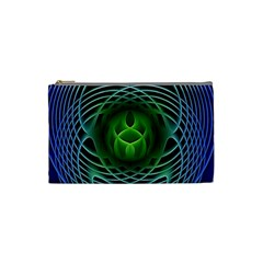 Swirling Dreams, Blue Green Cosmetic Bag (Small)