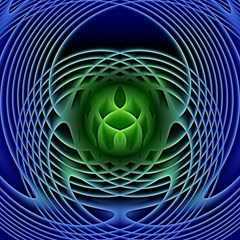 Swirling Dreams, Blue Green Magic Photo Cubes