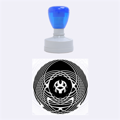 Swirling Dreams, Blue Green Rubber Round Stamps (medium)