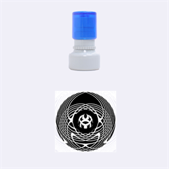 Swirling Dreams, Blue Green Rubber Round Stamps (small)