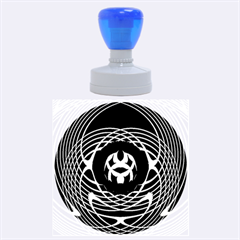 Swirling Dreams, Blue Green Rubber Round Stamps (large)