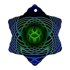 Swirling Dreams, Blue Green Ornament (snowflake)