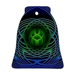 Swirling Dreams, Blue Green Bell Ornament (2 Sides)