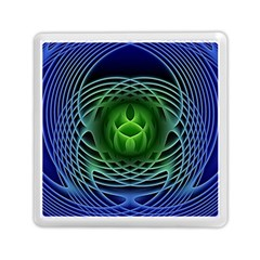 Swirling Dreams, Blue Green Memory Card Reader (square)