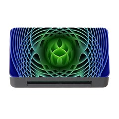 Swirling Dreams, Blue Green Memory Card Reader With Cf