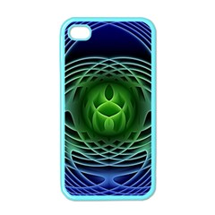 Swirling Dreams, Blue Green Apple iPhone 4 Case (Color)