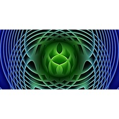 Swirling Dreams, Blue Green YOU ARE INVITED 3D Greeting Card (8x4)