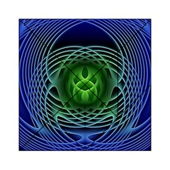 Swirling Dreams, Blue Green Acrylic Tangram Puzzle (6  x 6 )