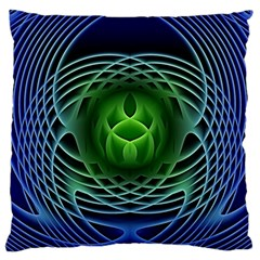 Swirling Dreams, Blue Green Large Cushion Cases (Two Sides)
