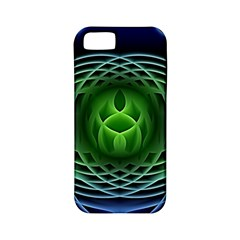 Swirling Dreams, Blue Green Apple iPhone 5 Classic Hardshell Case (PC+Silicone)