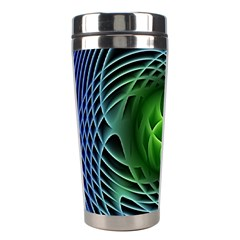 Swirling Dreams, Blue Green Stainless Steel Travel Tumblers