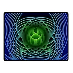 Swirling Dreams, Blue Green Double Sided Fleece Blanket (small)