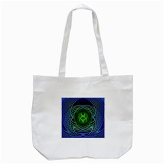 Swirling Dreams, Blue Green Tote Bag (white)