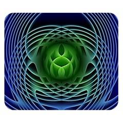 Swirling Dreams, Blue Green Double Sided Flano Blanket (Small)