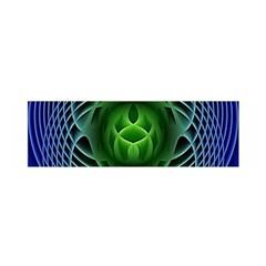 Swirling Dreams, Blue Green Satin Scarf (oblong)