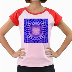 Swirling Dreams, Blue Women s Cap Sleeve T Shirt