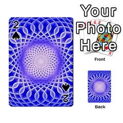 Swirling Dreams, Blue Playing Cards 54 Designs