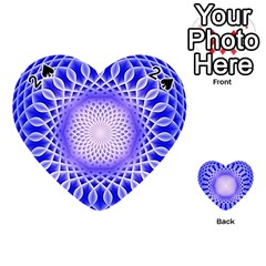 Swirling Dreams, Blue Playing Cards 54 (heart)