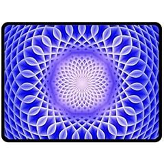Swirling Dreams, Blue Fleece Blanket (large)