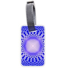 Swirling Dreams, Blue Luggage Tags (Two Sides)