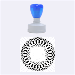 Swirling Dreams, Blue Rubber Round Stamps (Medium)