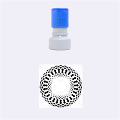 Swirling Dreams, Blue Rubber Round Stamps (small)