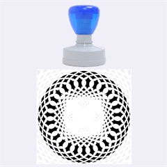 Swirling Dreams, Blue Rubber Round Stamps (Large)