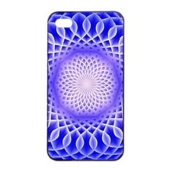 Swirling Dreams, Blue Apple iPhone 4/4s Seamless Case (Black)