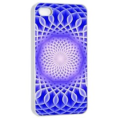 Swirling Dreams, Blue Apple Iphone 4/4s Seamless Case (white)