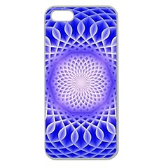 Swirling Dreams, Blue Apple Seamless iPhone 5 Case (Clear)