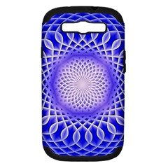 Swirling Dreams, Blue Samsung Galaxy S III Hardshell Case (PC+Silicone)