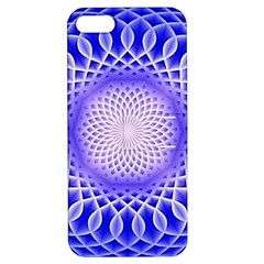 Swirling Dreams, Blue Apple iPhone 5 Hardshell Case with Stand