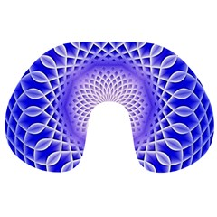 Swirling Dreams, Blue Travel Neck Pillows