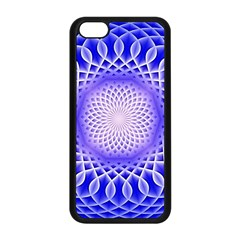 Swirling Dreams, Blue Apple iPhone 5C Seamless Case (Black)