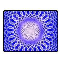 Swirling Dreams, Blue Double Sided Fleece Blanket (Small)