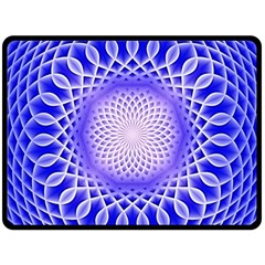 Swirling Dreams, Blue Double Sided Fleece Blanket (large)