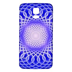 Swirling Dreams, Blue Samsung Galaxy S5 Back Case (White)