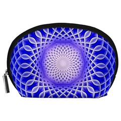Swirling Dreams, Blue Accessory Pouches (Large)