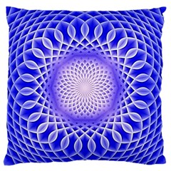 Swirling Dreams, Blue Large Flano Cushion Cases (Two Sides)