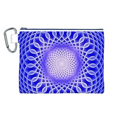 Swirling Dreams, Blue Canvas Cosmetic Bag (L)