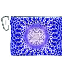 Swirling Dreams, Blue Canvas Cosmetic Bag (XL)