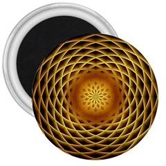 Swirling Dreams, Golden 3  Magnets
