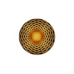 Swirling Dreams, Golden Golf Ball Marker (4 pack)